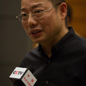 16 Chen Qi was interviewed by the press 290x290 - Notations of Time: Chen Qi Art Exhibition Solemnly Opened at the National Museum of China