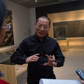 17 Chen Qi was interviewed by the press 290x290 - Notations of Time: Chen Qi Art Exhibition Solemnly Opened at the National Museum of China
