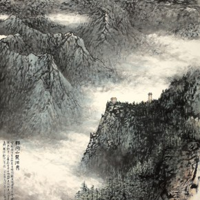 17 Work by Hao Hejun 290x290 - Pave in the Magnificent Land – Landscape Painting Exhibition by Hao Hejun