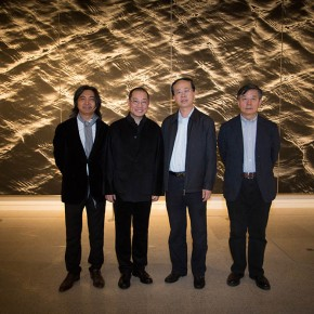 19 Group Photo of Chen Qi Zuo Zhongyi Wu Changjiang and Wu Weishan at the gallery 290x290 - Notations of Time: Chen Qi Art Exhibition Solemnly Opened at the National Museum of China