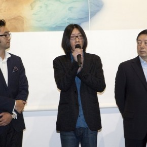 Curator Zhu Zhu addressed at the opening ceremony 290x290 - Veneer of the World: Xu Lei Solo Exhibition at Today Art Museum