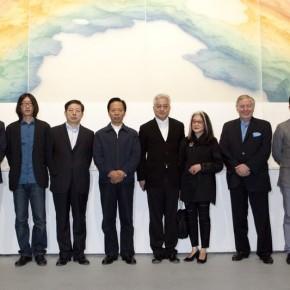 From the left Gao Peng Zhu Zhu Jia Leilei Wang Wenzhang Xu Lei Long Meixian Clement Jones Xia Jifeng 290x290 - Veneer of the World: Xu Lei Solo Exhibition at Today Art Museum