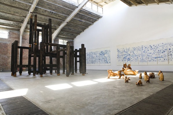 General View of QIU ZHIJIE - 'Satire' , Courtesy Galleria Continua Photo by Meng Wei 02