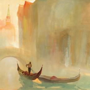 """Guan Naiping """"Barcarolle"""" 290x290 - Elegant Ancient Bridges – Guan Guangzhi, Guan Naiping, Zhai Xinjian and Zhai Bo's Exhibition at CAFA"""