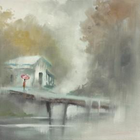 """Guan Naiping """"Eryu Bridge in the Rain""""  290x290 - Elegant Ancient Bridges – Guan Guangzhi, Guan Naiping, Zhai Xinjian and Zhai Bo's Exhibition at CAFA"""