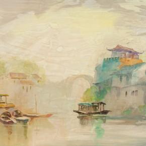 """Guan Naiping """"Feng Bridge in Suzhou"""" 290x290 - Elegant Ancient Bridges – Guan Guangzhi, Guan Naiping, Zhai Xinjian and Zhai Bo's Exhibition at CAFA"""