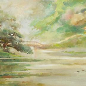 """Guan Naiping """"Spring Water""""  290x290 - Elegant Ancient Bridges – Guan Guangzhi, Guan Naiping, Zhai Xinjian and Zhai Bo's Exhibition at CAFA"""