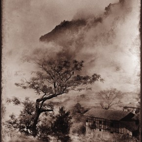 "Lang Ching-shan, ""Bird's Voice from the Mountains Surrounded by Clouds"", 61 x 49.2 cm, 1955"