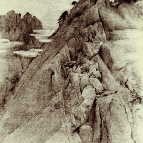 """Lang Ching-shan, """"Clouds Surround Cliff"""", 61 x 42.2 cm, 1942"""