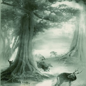 "Lang Ching-shan, ""Deer Garden in Changchun"", 61 x 48.6 cm, 1956"