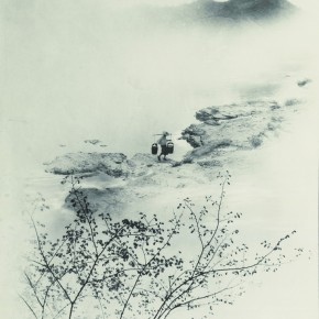 "Lang Ching-shan, ""Draw Water from River at Dawn"", 61 x 43.1 cm, 1934"