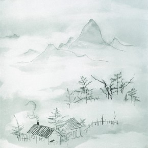 "Lang Ching-shan, ""Exquisite Feeling in Farmhouse"", 61 x 48.8 cm, 1965"