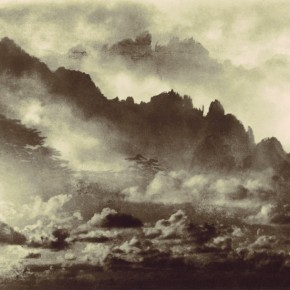 """Lang Ching-shan, """"Half of Three Mountains Are In the Clouds When the Another Half Are Out of the Clouds"""", 61 x 39.7 cm, 1987"""