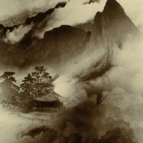 """Lang Ching shan """"Mountain Pavilion in the Immortal Mountains 61 x 46.4 cm 1956 290x290 - """"Distant Melody from Quiet Mountains – Special Exhibition of Lang Ching-shan Photography Art"""" Debut at National Art Museum of China"""