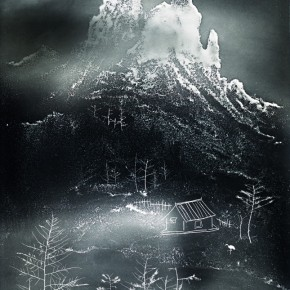 "Lang Ching-shan, ""Reflection of Snowy Mountains Float in the Sky"", 61 x 49.1 cm, 1965"