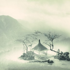 "Lang Ching-shan, ""There Is A Pavilion for Rest in the Distant Mountains Surrounded by Clouds"", 45.6 x 61 cm, 1975"