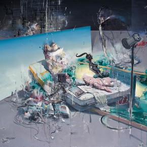 """Li Changlong """"What Makes You So Mighty"""" oil on canvas 200 x 160 cm 2011 290x290 - Carry The Tiger Down The Mountain: Works of Wang Huaxiang and His Students"""