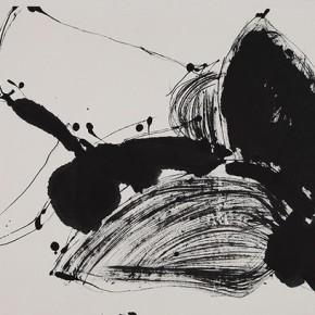 """Qiao Xiaoguang """"Double Butterflies"""" 137 x 68.5 cm 2009 290x290 - Contrasting Worlds – The Ink Art of Qiao Xiaoguang on Display in Beijing 798 Art Zone"""