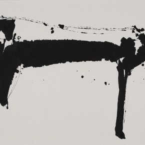 "Qiao Xiaoguang ""Goat"" 137 x 68.5 cm 2009 290x290 - Contrasting Worlds – The Ink Art of Qiao Xiaoguang on Display in Beijing 798 Art Zone"