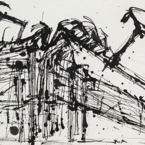 "Qiao Xiaoguang ""The Mountain of Goats"" 95 x 153 cm 2013 290x290 - Contrasting Worlds – The Ink Art of Qiao Xiaoguang on Display in Beijing 798 Art Zone"