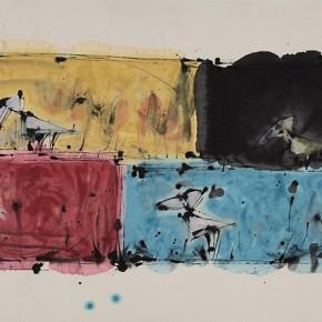 "Qiao Xiaoguang ""The Sun in Four Seasons"" 177 x 96 cm 2009 290x290 - Contrasting Worlds – The Ink Art of Qiao Xiaoguang on Display in Beijing 798 Art Zone"