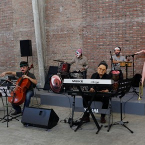Qiu Zhijie Bastard Concert 2013 installation performance screen variable dimensions Courtesy Galleria Continua Photo by Meng Wei 01 290x290 - Satire: Qiu Zhijie Solo Exhibition at Galleria Continua, Beijing