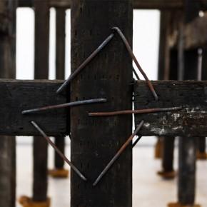 Qiu Zhijie Elysian Fields 2013 crosstie bamboo root carvings electrical machine 620 x 580 x 550cm Courtesy Galleria Continua Photo by Meng Wei 1 290x290 - Satire: Qiu Zhijie Solo Exhibition at Galleria Continua, Beijing