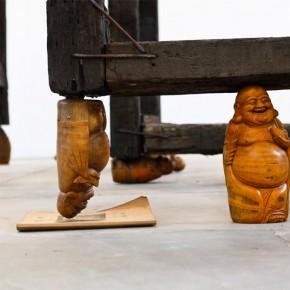 Qiu Zhijie Elysian Fields 2013 crosstie bamboo root carvings electrical machine 620 x 580 x 550cm Courtesy Galleria Continua Photo by Meng Wei 290x290 - Satire: Qiu Zhijie Solo Exhibition at Galleria Continua, Beijing