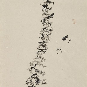 "Shi Hu ""Fire of Shoes"" ink on paper 145 x 77 cm 290x290 - Beijing Exhibition of Chinese Painting and Calligraphy by Shi Hu grandly opened at National Art Museum of China"
