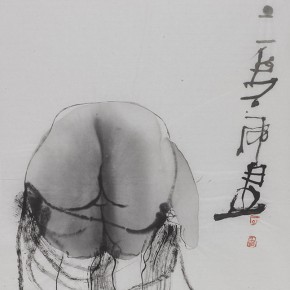 Shi Hu Ink and Wash Figure 01 2011 70cmx45cm 290x290 - Largest Solo Exhibition of Shi Hu to be Unveiled at the National Art Museum of China