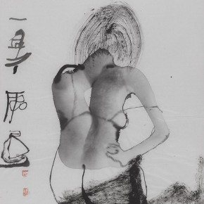Shi Hu Ink and Wash Figure 03 2011 70cmx45cm 290x290 - Largest Solo Exhibition of Shi Hu to be Unveiled at the National Art Museum of China