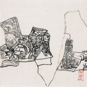 Shi Hu Landscape: 31.5cmX28cm ink on paper 2009 290x290 - Largest Solo Exhibition of Shi Hu to be Unveiled at the National Art Museum of China