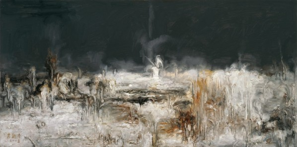 "Su Xinping, ""Landscape Series II No.14"", 2008; oil on canvas, 97 x 195 cm"