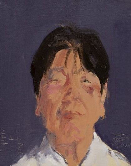 Tong Yan Runan, The Comrades of Man Jue Long - Jiang Ziai, 41x33cm, Oil on Canvas, 2013