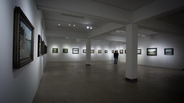 """View of """"Elegant Ancient Bridges - Guan Guangzhi, Guan Naiping, Zhai Xinjian and Zhai Bo's Exhibition""""   (9)"""