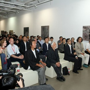 View of the opening ceremony of Self deportation Yu Zhenli Solo Exhibition 290x290 - Self-deportation: Yu Zhenli Solo Exhibition Held at Today Art Museum