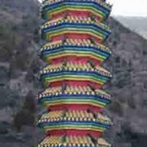 Wang Chuan Tower of Longqing Valley PXL 120x250cm 290x290 - Wang Chuan: Colorful Solo Exhibit at Pékin Fine Arts Beijing