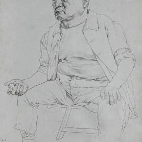 """Xin Dongwang """"drawing on paper"""" 43 x 52 cm 1996 290x290 - Carry The Tiger Down The Mountain: Works of Wang Huaxiang and His Students"""