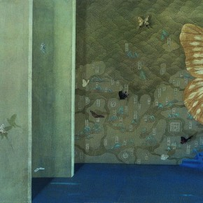 Xu Lei Chronicle of Butterflies 2002 Chinese ink and mineral color on paper 64×115cm1 290x290 - Veneer of the World: Xu Lei Solo Exhibition at Today Art Museum