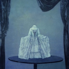 Xu Lei Doll on Table 2004 Chinese ink and mineral color on paper 85×65cm1 290x290 - Veneer of the World: Xu Lei Solo Exhibition at Today Art Museum