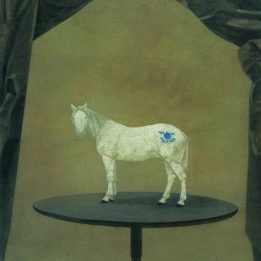 Xu Lei Horse on Table 2002 Chinese ink and mineral color on paper 85×66cm1 290x290 - Veneer of the World: Xu Lei Solo Exhibition at Today Art Museum