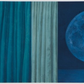 Xu Lei Moon Veil 2009 Chinese ink and mineral color on paper 180×65cm 290x290 - Xu Lei