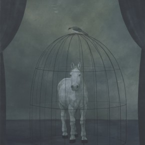 Xu Lei The Horse in the Cage 1997 Ink and color on paper 87×65cm 290x290 - Xu Lei