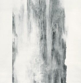 "Xu Longsen ""Jade Out of Kunlun Mountains No.3"" 1030 x 227 cm ink on paper 2008 2009  282x290 - Landscape Paintings of Xu Longsen Exhibiting at the Art Museum of Nanjing University of the Arts"