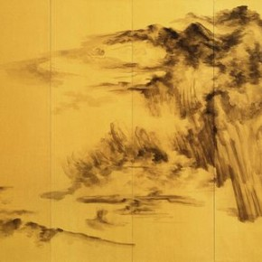 "Xu Longsen ""Wushan in Clouds Six Screens"" 223 x 408 cm ink and wash on paper 2010 290x290 - Landscape Paintings of Xu Longsen Exhibiting at the Art Museum of Nanjing University of the Arts"
