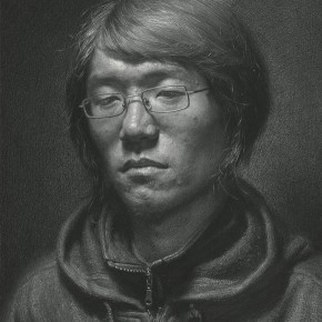 """Yu Jiebin """"A Young Man with A Pair of Glasses"""" drawing 45 x 35 cm 2009 290x290 - Carry The Tiger Down The Mountain: Works of Wang Huaxiang and His Students"""