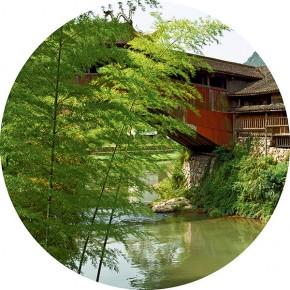 """Zhai Bo """"Beijian Bridge Bamboo"""" 290x290 - Elegant Ancient Bridges – Guan Guangzhi, Guan Naiping, Zhai Xinjian and Zhai Bo's Exhibition at CAFA"""