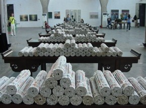 Zheng Xuewu Books Installation 290x214 - The Zero State – First China Installation Art Biennale 2013 to be Presented in Beijing and Tianjin