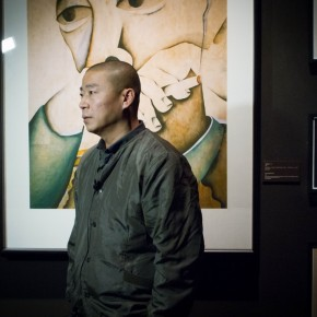 01 Artist Zhu Wei stood in front of his works 290x290 - Representative Ink Paintings by Zhu Wei Presented by Today Art Museum