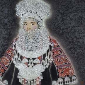 14 Lady of Miao Nationality Dressed up  290x290 - The 60th Anniversary Art Exhibition of Jiang Caiping on Display at the National Art Museum of China